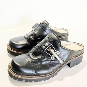 Geier Wally Wedge Heel Clog 90s The Craft Shoes